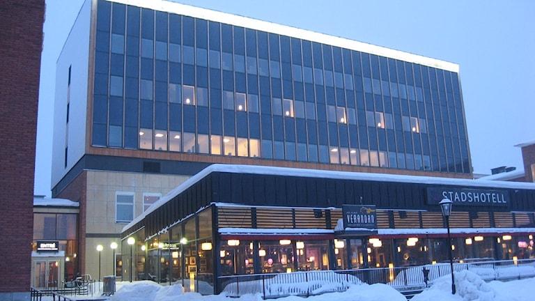 Stadshotellet i Skellefteå är fullt liksom alla andra som har rum att hyra ut. Foto Magnus Bergner/SR.