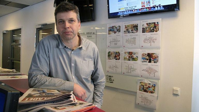Erik Isberg, Folkbladet, Foto: Anna Burén/SR.