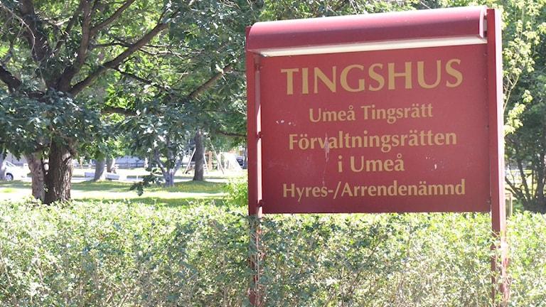 Umeå tingsrätt. Foto: Edward Karp/SR Västerbotten