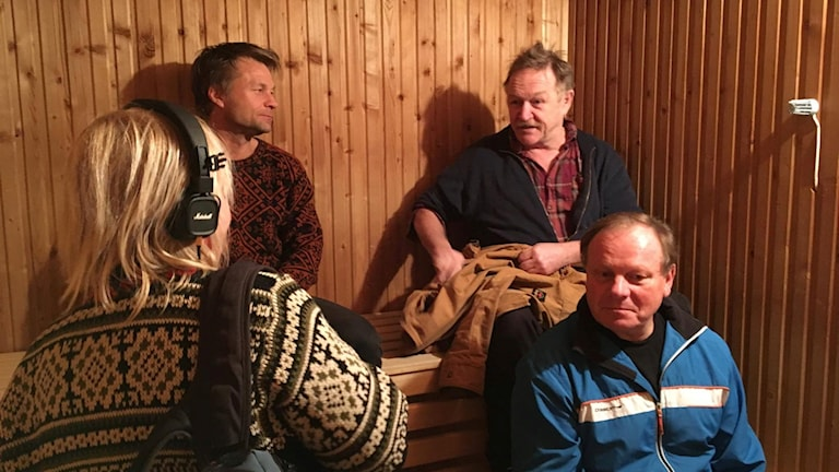 Bengt Niska, Bengt Aili och Daniel Wikslund Foto: Madeleine Harrati /SR Västerbotten