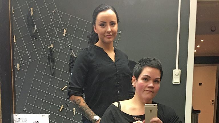 Marika Lindahl och Sandra Eriksson frisörer i Malå.