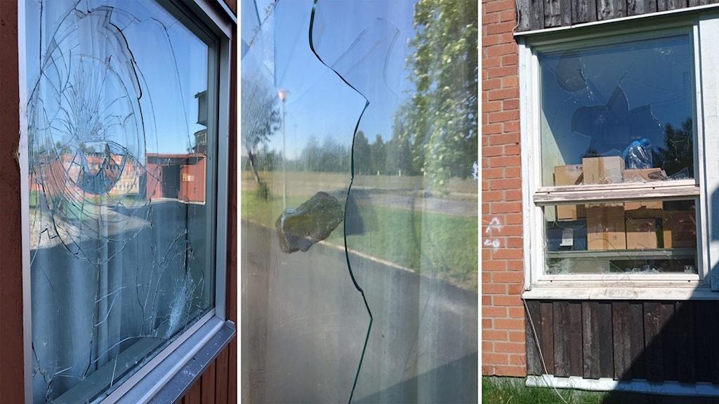 Krossat fönster, Renforsskolan.