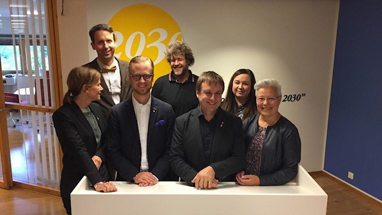 Politiker i Skellefteå på presskonferens om kulturhusbygget