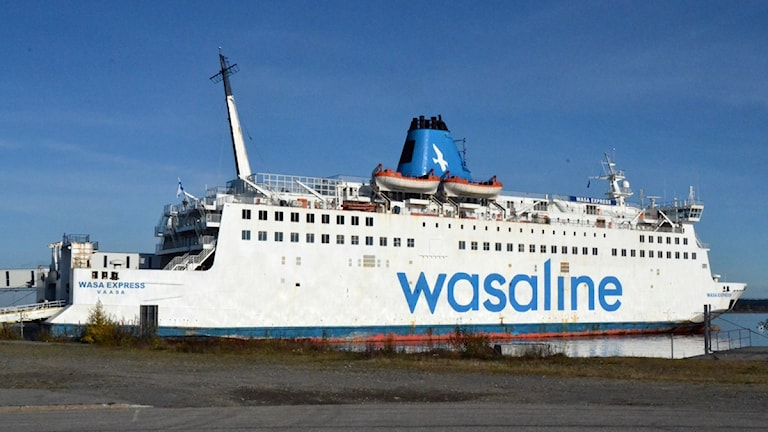 Wasa Express vid kaj i Holmsund. Foto: Peter Öberg, Sveriges Radio.