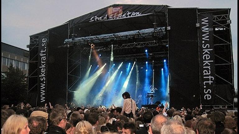 Stora scenen under Stadsfesten i Skellefteå