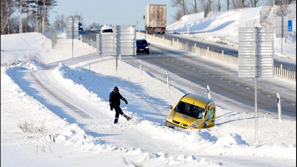 Halka och snö på gång i år igen. Foto: Johan Nilsson/Scanpix