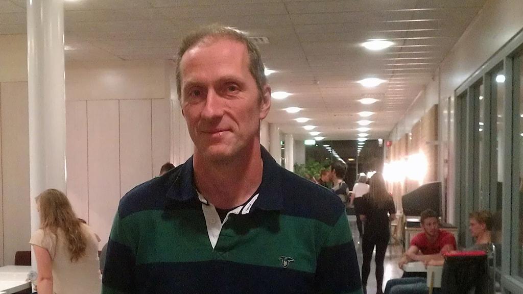 Lars Erik Lauritz, föreståndare på polisutbildningen i Umeå. Foto: Peter Öberg, Sveriges Radio.