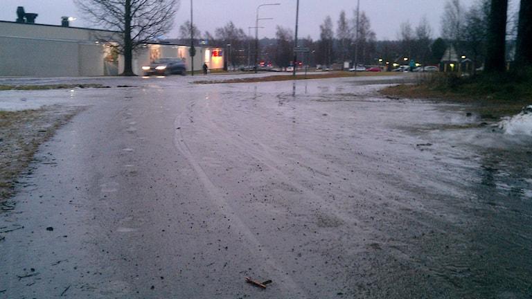 Halt på gatorna idag. Foto: Peter Öberg, Sveriges Radio.