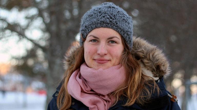 Linn Sömskar, IFK Umeå kom femma i SM i skiathlon. Foto: Helena Andersson/Sveriges Radio