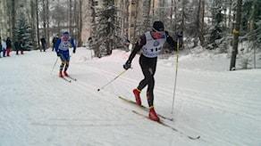 15 kilometer klassisk åkning i Gammliaskogen. Foto Peter Öberg/SR.