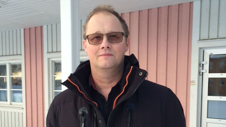 Mikael Lindfors, socialdemokratiskt kommunalråd i Norsjö. Foto: Peter Öberg/SR.