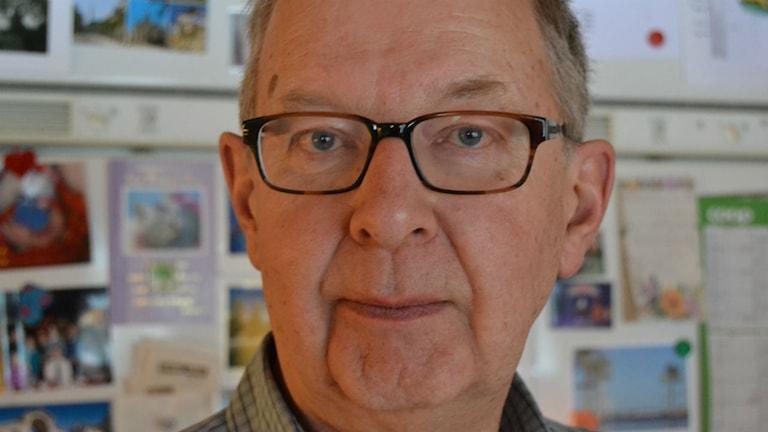 Brage Sundberg, Åselepartiet  vill se pengarna på kontot innan han tror på det. Foto: Olov Antonsson/Sveriges Radio.