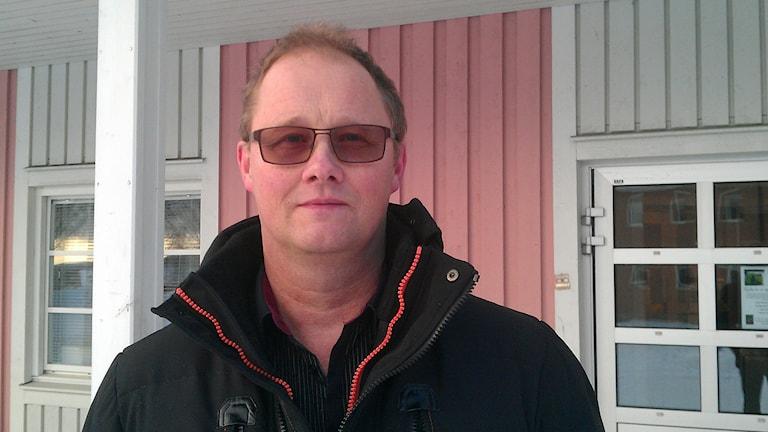 Mikael Lindfors, (S) kommunalråd i Norsjö. Foto: Peter Öberg, Sveriges Radio.