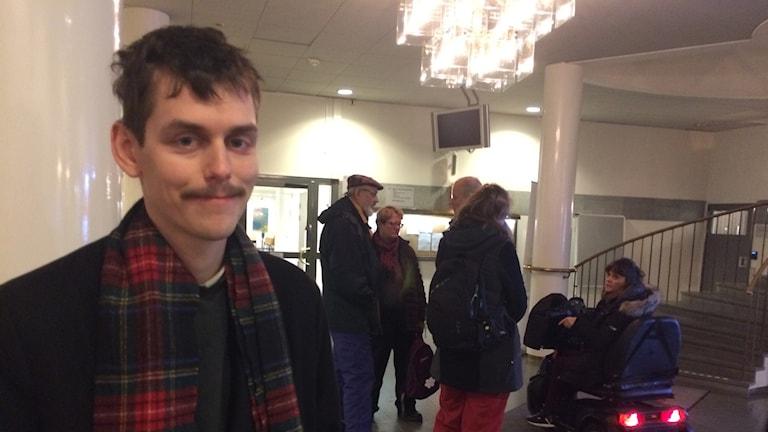 Erik Persson från Folkinitiativet i Umeå.