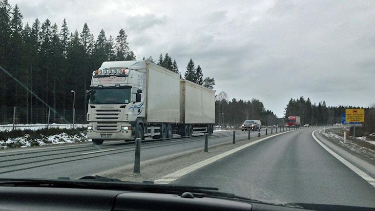 Lastbil på E4:an