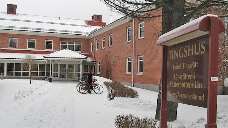 Tingsrätten i Umeå. Foto: Peter Öberg/SR