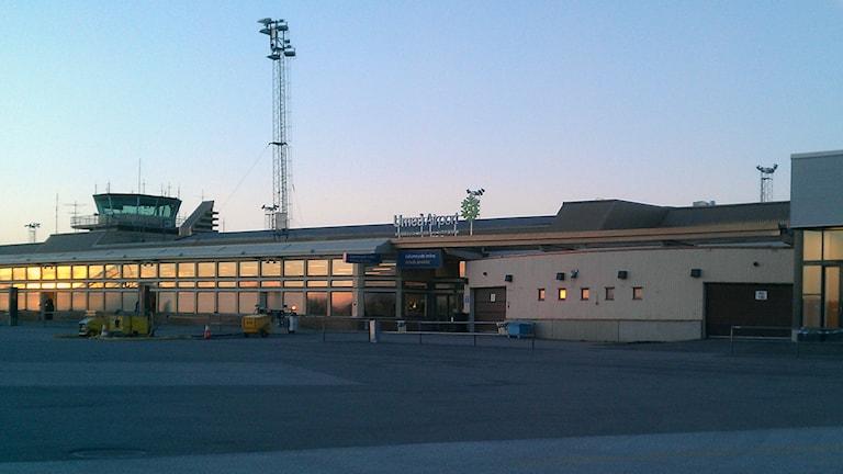 Umeå flygplats. Foto: Peter Öberg, Sveriges Radio.