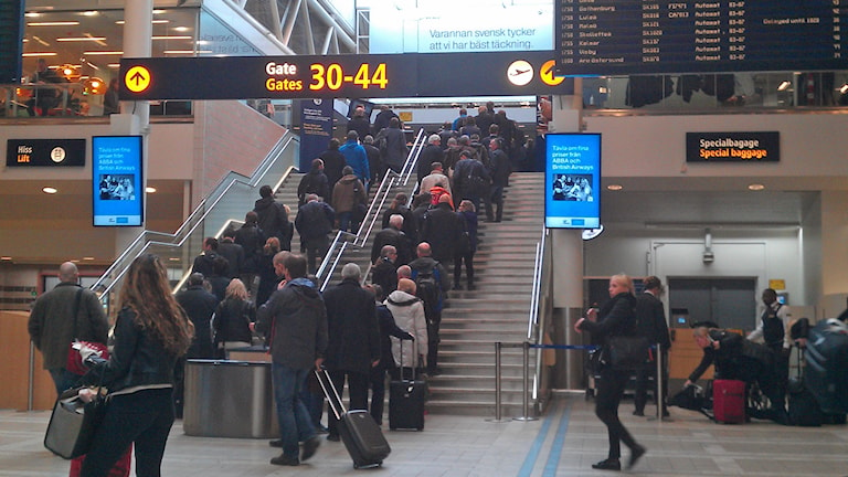 Arlanda flygplats, terminal 4. Foto: Peter Öberg, Sveriges Radio.