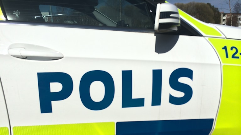 Polisbil. Foto: Lennart Odhström, Sveriges Radio.