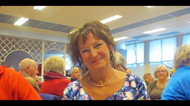 Annelie Nordström förstamajtalade i Lycksele.