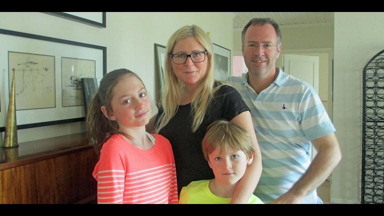 Val-familjen Mattson-Kemp i Storuman. Foto: Örjan Holmberg/Sveriges Radio