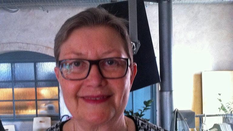 Socialnämndens ordförande i Umeå Eva Andersson (S) ledde sitt sista möte igår. Foto: Johanna Frostensson/SR