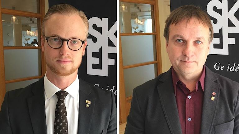 Andreas Löwenhöök (M) och Lorents Burman (S) motage: SR