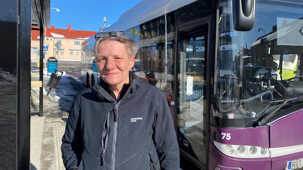 Kerstin Lindqvist, busschaufför i Skellefteå