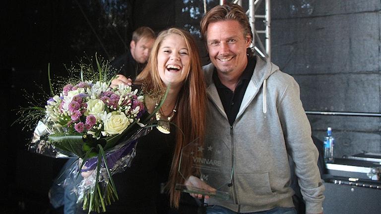 Ida Carlsson Västerbottens vinnare i Svensktoppen nästa 2014. Foto: Helena Ramfjord/Sveriges Radio