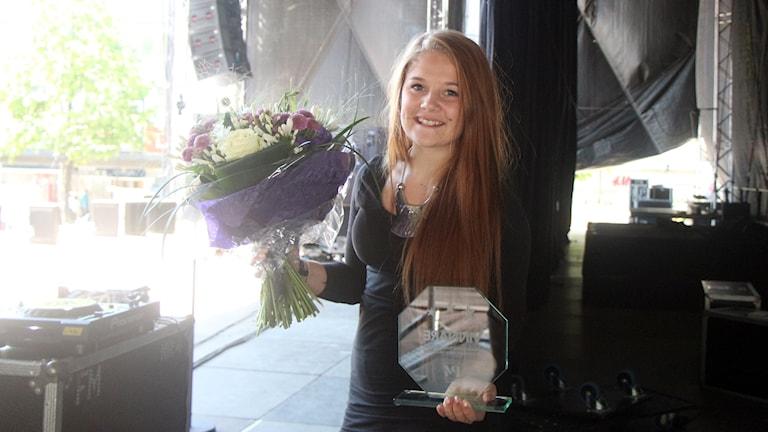 Ida Carlsson Svensktoppen nästa 2014. Foto: Helena Ramfjord/Sveriges Radio