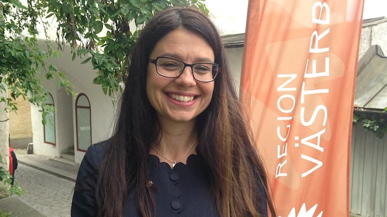 Helena Lindahl, Centerpartiet , i Almedalen. Foto: Annelie Lanner/Sveriges Radio