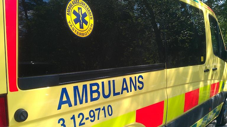 Ambulans. Foto: Peter Öberg, Sveriges Radio.