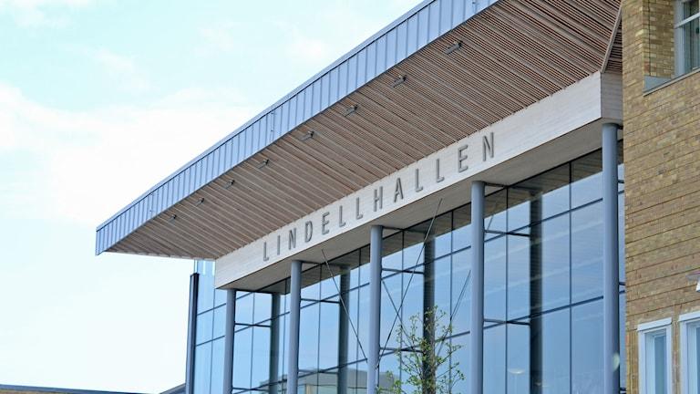 Lindellhallen vid Samhällsvetarhuset, Umeå universitet. Foto: Lillemor Strömberg/Sveriges Radio.