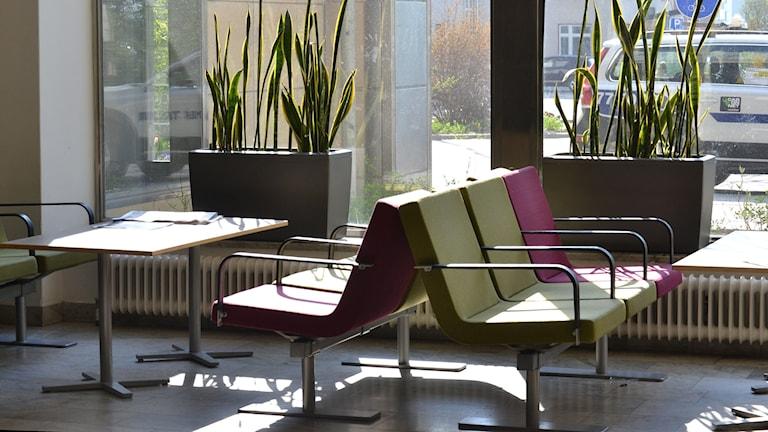 Centralhallen på Norrlands universitetssjukhus, Nus. Foto: Lillemor Strömberg/Sveriges Radio.