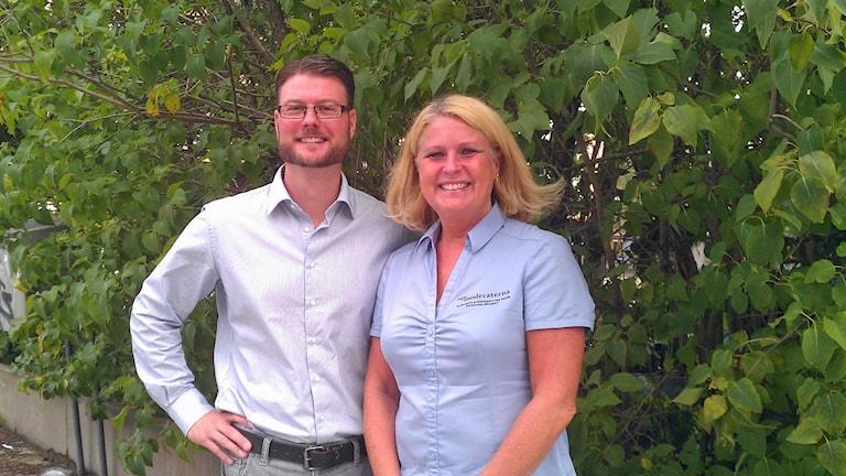 Edward Riedl och Elisabeth Björnsdotter Rahm. Foto: Peter Öberg, Sveriges Radio.