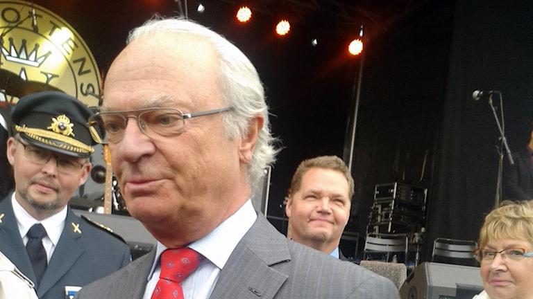 Kung Carl Gustaf. Foto: Linne Hedelilja, Sveriges Radio.