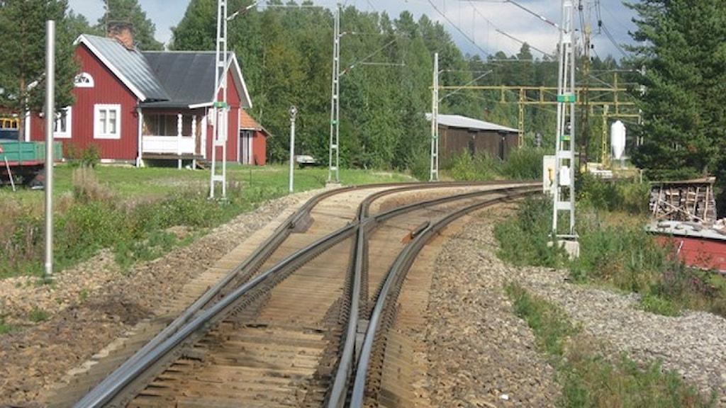 Järnvägen genom Tvärålund. Foto: Inga Korsbäck/SR