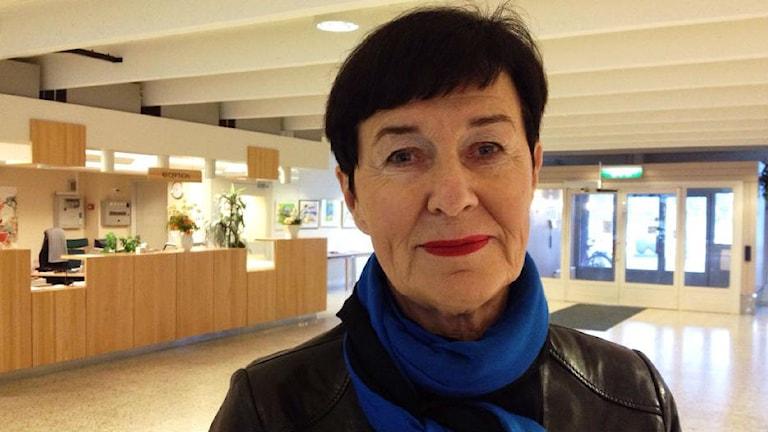 Marianne Normark, gruppledare för folkpartiet i landstinget. Foto: Mikaela Pallin/Sveriges Radio