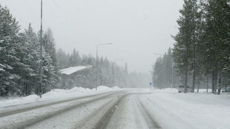 Kraftigt snöfall
