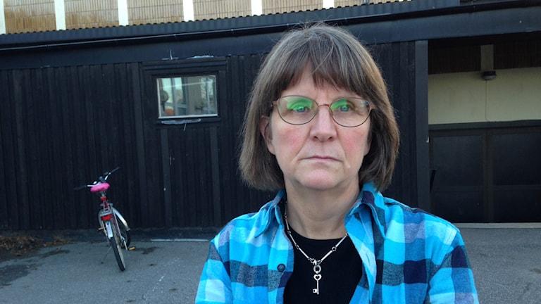 Ingrid Hanke, ordförande IF Metall på Element Six, Foto: Anna Burén/SR.