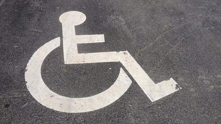 Handikappsymbol. Foto: Erica Dahlgren/Sveriges Radio