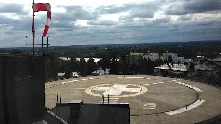 Helikopterplattan kan få fler nordiska landningar. Foto: Erica Dahlgren/Sveriges Radio