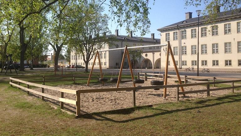Minervaskolans gård. Foto: Erica Dahlgren/Sveriges Radio