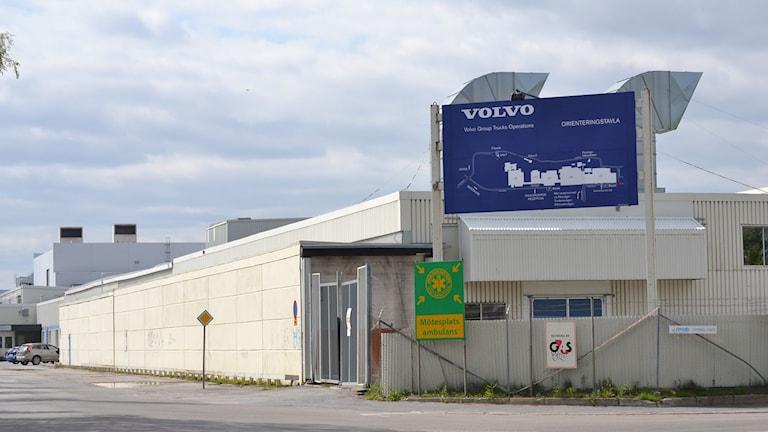 Volvo lastvagnar i Umeå, Umeverken. Foto: Lillemor Strömberg/Sveriges Radio.