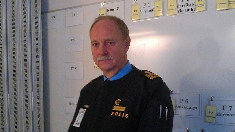 Hans-Olof Markström, polisen i Västerbotten. Foto: Peter Öberg, Sveriges Radio Västerbotten.