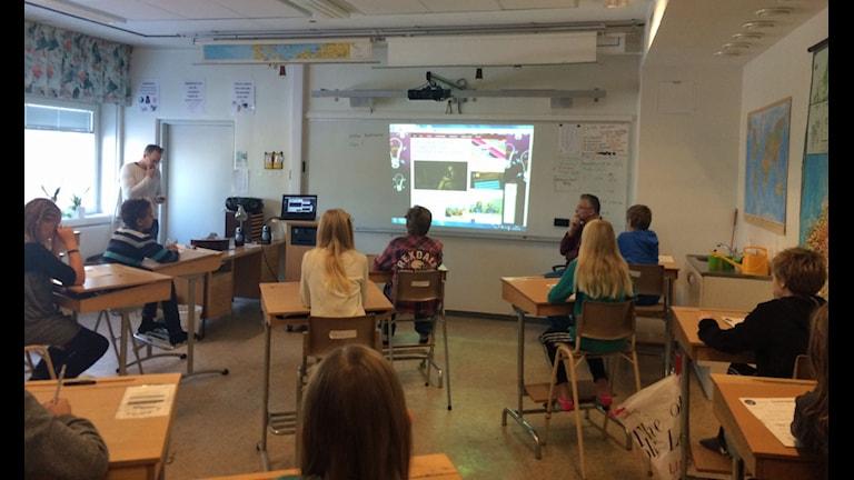 Klass fem i Stöcke skola foto Anders Wikström SR