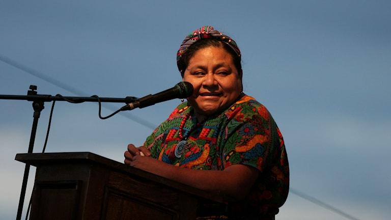 Rigoberta Menchú Tum. Foto: Alexandre Meneghini/TT