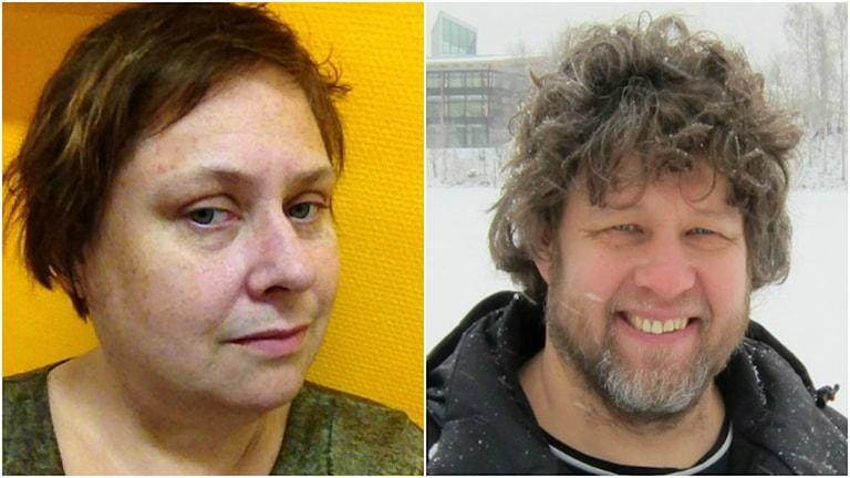 Katrin Baxemyr i Lycksele och Hans Brettschneider i Skellefteå är kritiska mot hur partiet fungerar i Västerbotten. Foto: Privat/SR