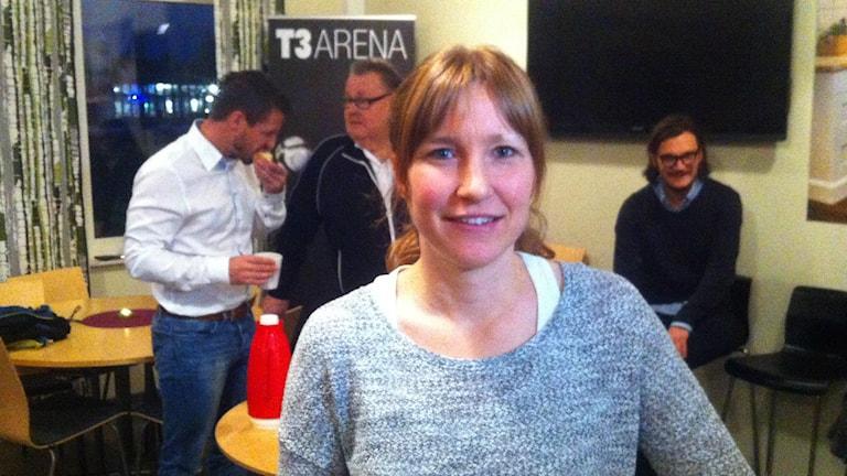 Maria Bergkvist, ny huvudtränare. Foto: Joakim Silverdal/Sveriges Radio