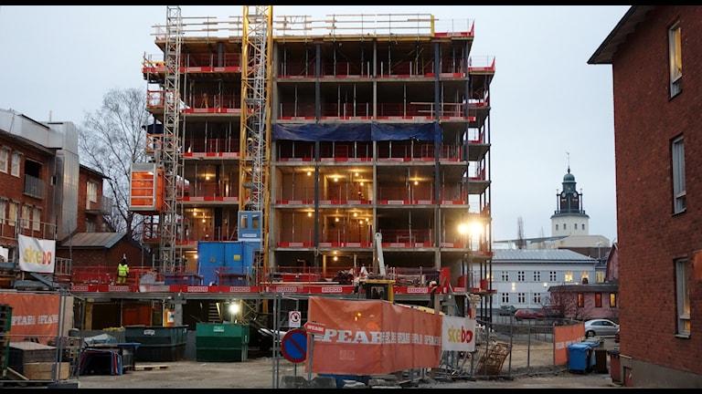 Skebos pågående höghusbygge i betong